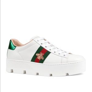 🐝 Gucci New Ace Platform Bee Sneaker 🐝